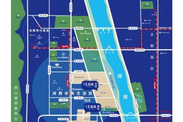 富力天禧城区位图