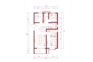 红星紫御华府108㎡三室两厅两卫户型