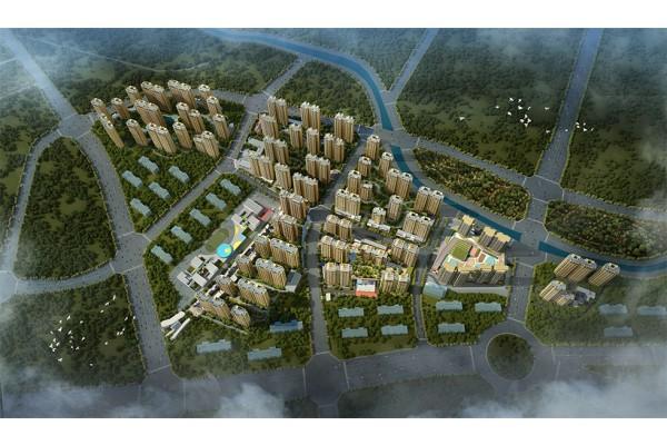 中海国际社区鸟瞰效果图