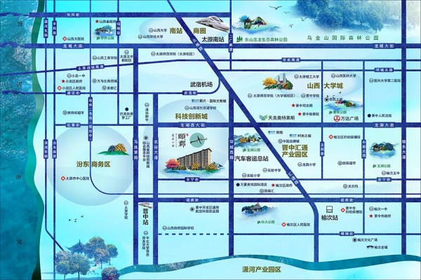 辰兴颐郡交通图