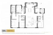 中海天钻224㎡四室两厅四卫户型图