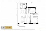 中海天钻130㎡三室两厅两卫户型图