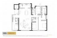 中海天钻222㎡四室两厅四卫户型图