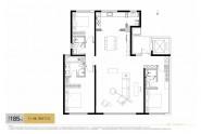 中海天钻185㎡三室两厅三卫户型图