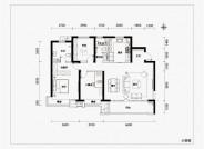 融信时光之城136㎡三室两厅两卫户型图