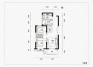 融信时光之城86㎡两室两厅一卫户型图