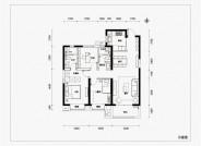 融信时光之城112㎡三室两厅两卫户型图