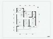融信时光之城122㎡三室两厅两卫户型图