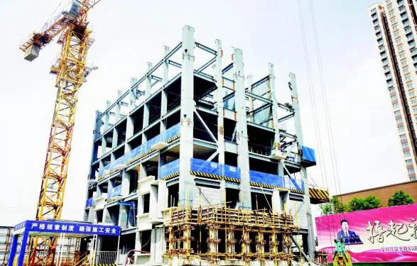 全省首个装配式钢结构高层住宅拔地起 预计7月底封顶