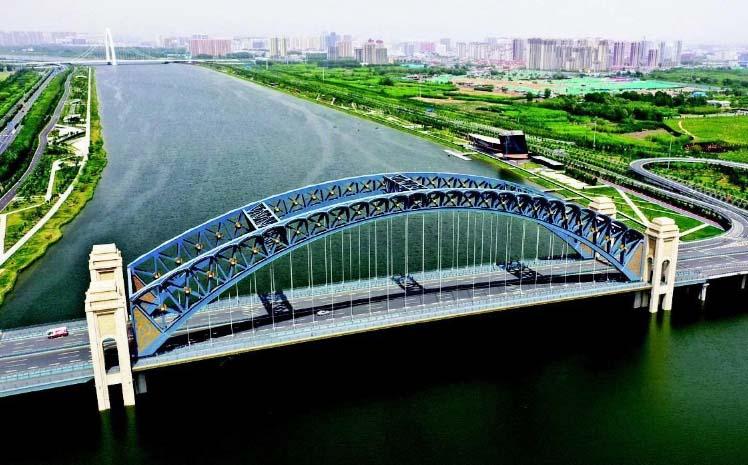 汾河太原城区晋阳桥段。