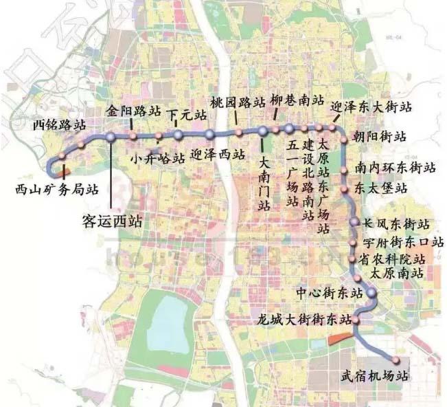 太原地铁1号线各个站点陆续开建!盾构阶段将下穿汾河