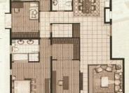 十二院城B-1四室两厅两卫户型