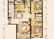 欢乐颂户型图D1户型 3室2厅2卫 面积:120.87m2