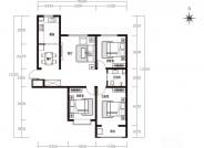 天朗美域27-C户型3室2厅1卫1厨