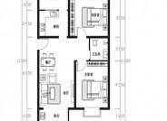 天朗美域28#A户型2室2厅1卫1厨