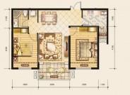 欢乐颂户型图E1户型 2室2厅1卫 面积:85.05m2