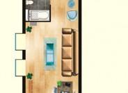 亲海国际D户型1室1厅1卫1厨 89.69㎡