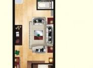 亲海国际E户型1室1厅1卫1厨 71.14㎡