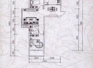 龙景逸墅1#B户型2室2厅1卫1厨 92.97㎡