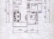 龙景逸墅1#A户型2室2厅1卫1厨 82.61㎡