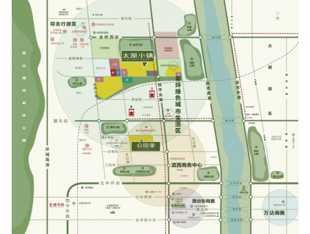 太原万科公园里区位图