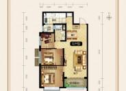 恒大滨河左岸3室2厅1卫2#E户